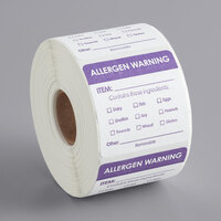 Noble Products 2 inch x 2 inch Removable Big 8 Allergens Label - 500/Roll