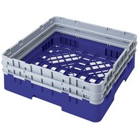 Cambro BR578168 Blue Camrack Customizable Full Size Open Base Rack with 2 Extenders