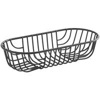 Acopa Oblong Black Wire Basket - 9 inch x 4 inch