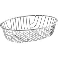 Acopa Oval Chrome Wire Basket - 9 inch x 6 inch