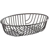 Acopa Oval Black Wire Basket - 9 inch x 6 inch