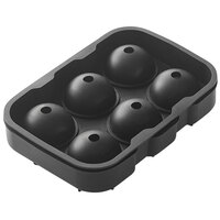 American Metalcraft SMSR8 Black Silicone 6 Compartment 1 1/2 inch Sphere Ice / Dessert Mold with Lid