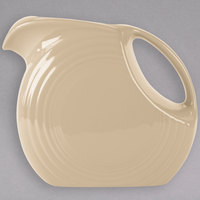 Homer Laughlin 484330 Fiesta Ivory 2.1 Qt. Large Disc China Pitcher - 2/Case