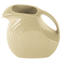 Homer Laughlin 484330 Fiesta Ivory 2.1 Qt. Large Disc Pitcher - 2/Case