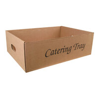 22 inch x 16 1/2 inch x 7 inch Corrugated Catering Tray 25/Case
