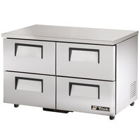 True TUC-48D-4-ADA 48 inch Deep ADA Compliant Undercounter Refrigerator with Four Drawers