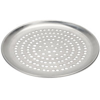 American Metalcraft SPCTP19 19 inch Super Perforated Standard Weight Aluminum Coupe Pizza Pan