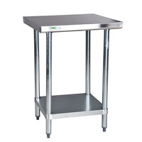Regency 18 Gauge 24 inch x 24 inch 304 Stainless Steel Commercial Work Table with Undershelf