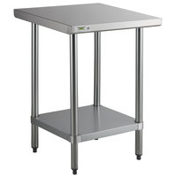 Regency 24 inch x 24 inch 18-Gauge 304 Stainless Steel Commercial Work Table with Galvanized Legs and Undershelf