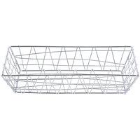 American Metalcraft ROC1362 Chrome Zorro Rectangular Basket - 13 inch x 6 inch x 2 1/2 inch