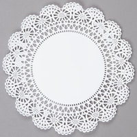 Hoffmaster 500236 8 inch Cambridge Lace Doily - 1000/Case
