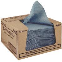 Chicopee 8487 Durawipe 13 inch x 15 inch Blue Heavy-Duty Wiper / Shop Towel - 300/Case