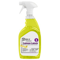 Noble Chemical 1 Qt. / 32 oz. Lemon Lance Ready-to-Use Disinfectant & Detergent Cleaner