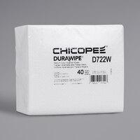 Chicopee D722W Durawipe 11 1/2 inch x 13 inch White Medium-Heavy-Duty Industrial Wiper - 960/Case