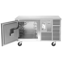 Traulsen TBC5-58 Spec Line Undercounter 5 Pan Blast Chiller - Left Hinged Door with 6 inch Casters and Stainless Steel Back