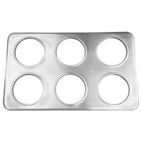 6 Hole Steam Table Adapter Plate - 4 3/4 inch