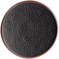 Acopa Heika 11 inch Black Matte Textured Coupe Stoneware Plate - 12/Case
