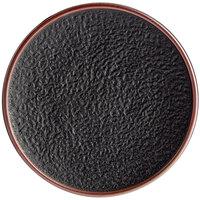 Acopa Heika 10 inch Black Matte Textured Coupe Stoneware Plate - 12/Case