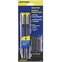 Swanson CP216 AlwaysSharp Refillable Carpenter Pencil with 8 Replacement Tips   - 2/Pack