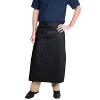Choice Black Bistro Apron with Pocket - 34 inchL x 30 inchW