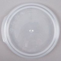 Cambro RFS1SCPP190 1 Qt. Translucent Round Seal Cover for Clear Camwear Containers