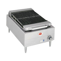 Wells B-44 20 inch Stainless Steel Electric Charbroiler with One Control Knob - 208V, 5400W