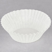 Hoffmaster 610011 1 1/2 inch x 1 inch White Fluted Baking Cup - 500/Pack