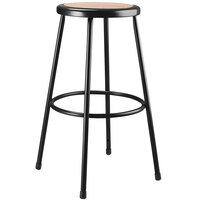 National Public Seating 6230-10 30 inch Hardboard Black Round Lab Stool