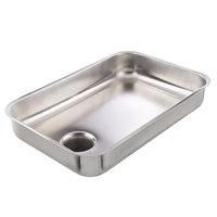 Avantco MG12PAN #12 Stainless Steel Food Pan for MG12 Meat Grinder