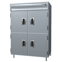 Delfield Stainless Steel SSH2-SH 51.92 Cu. Ft. Solid Half Door Two Section Reach In Heated Holding Cabinet - Specification Line