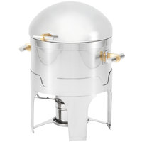 Vollrath 46095 2.5 Qt. New York, New York Sauce / Gravy Chafer with Brass Trim