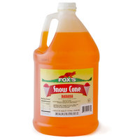 Fox's Banana Snow Cone Syrup 1 Gallon Containers - 4/Case