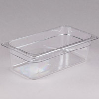 Cambro 34CW135 Camwear 1/3 Size Clear Polycarbonate Food Pan - 4 inch Deep