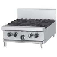 Garland G24-2G12T Natural Gas 2 Burner Modular Top 24 inch Range with 12 inch Griddle - 84,000 BTU