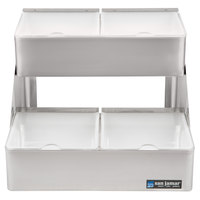 San Jamar B4704INL Two Tier Condiment Bin - 4 Qt. Capacity