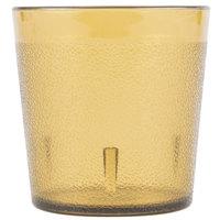 Carlisle 552913 9 oz. Amber Old Fashioned Pebbled Plastic Tumbler - 72/Case