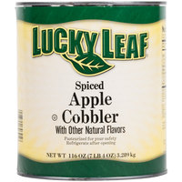 Lucky Leaf #10 Can Spiced Apple Cobbler Filling - 6/Case