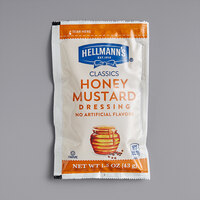 Hellmann's 1.5 oz. Honey Mustard Dressing Packet - 102/Case