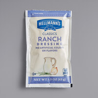 Hellmann's 1.5 oz. Ranch Dressing Packets - 102/Case