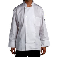 Chef Revival J100-XL Size 48 (XL) Customizable Double Breasted Chef Coat - Poly Cotton