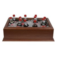 20 inch x 12 inch x 6 inch Medium Wooden Beverage Display / Housing with Mahogany Finish
