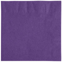 Choice 10 inch x 10 inch Purple 2-Ply Beverage / Cocktail Napkins - 250/Pack