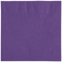 "Choice 10"" x 10"" Purple 2-Ply Beverage / Cocktail Napkins - 250/Pack"