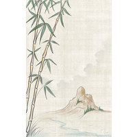 8 1/2 inch x 11 inch Menu Paper Asian Themed Bamboo Design Cover - 100/Pack