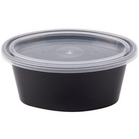Pactiv Newspring E503-B ELLIPSO 3 oz. Black Oval Souffle / Portion Cup with Clear Lid - 500/Case