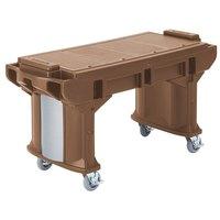 Cambro VBRT5146 Bronze 5' Versa Work Table with Standard Casters