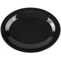Carlisle 3308603 Sierrus 9 1/2 inch x 7 1/4 inch Black Oval Melamine Platter - 24/Case