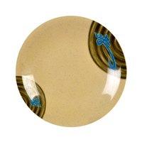 Wei 8 5/8 inch Round Melamine Dinner Plate - 12 / Pack