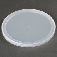 7 1/2 inch Microwavable Translucent Round Deli Container Lid - 200/Case
