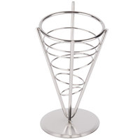 American Metalcraft SS59 Stainless Steel 1-Cone Basket - 5 inch x 9 inch